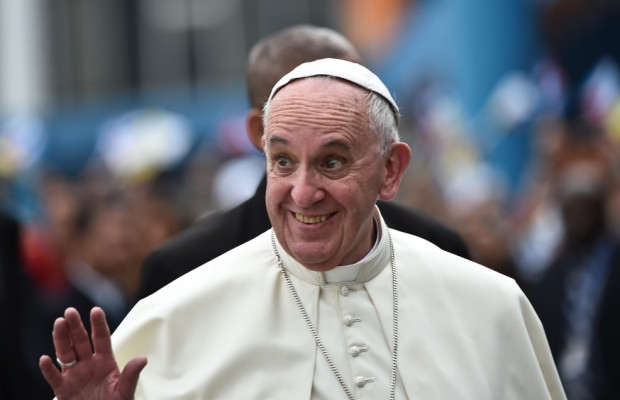 September 19 2015 : Pope Francis arrives at the airport in Havana, Cuba.